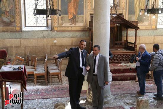 اثار تفجير الكنيسة المرقسية (14)