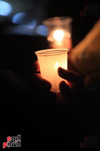 وقفة بالشموع لشهداء البطرسية (5)