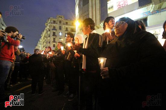وقفة بالشموع لشهداء البطرسية (14)