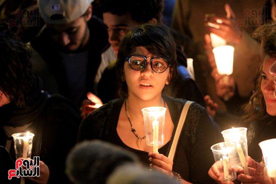 وقفة بالشموع لشهداء البطرسية (10)