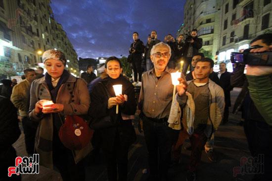 وقفة بالشموع لشهداء البطرسية (12)