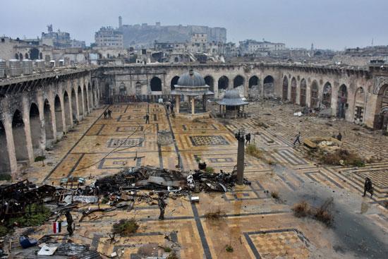 المسجد الأموى بعد الدمار