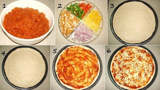 طريقة عمل البيتزا1