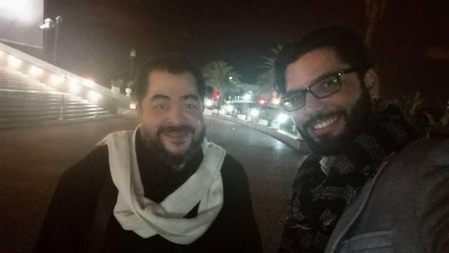 الفنان طارق عبد العزيز مع محمد علال