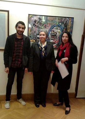 الدكتورة زينب نور والدكتورة صفية القبانى عميد فنون جميلة الزمالك