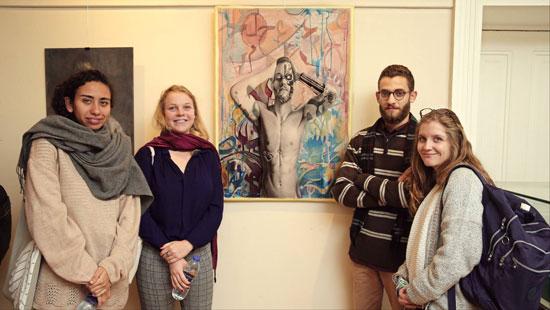 عمل مشارك فى معرض فنون جميلة الزمالك وبعض الحضور