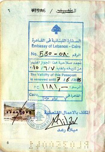 إقامة اللبنانى باخوس علوان زوج دوللى شاهين منتهية بمصر منذ عام ونصف