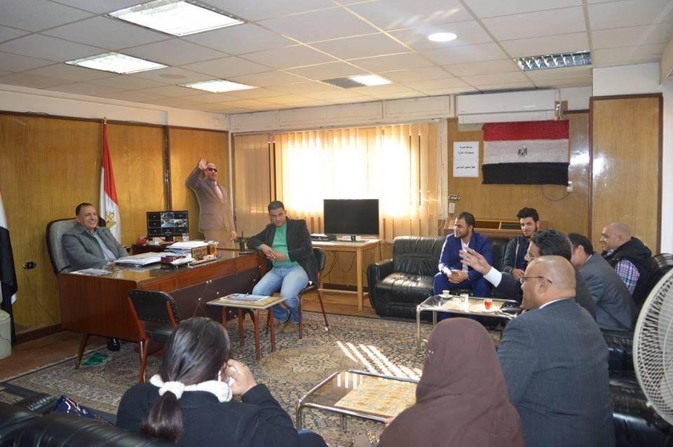 اجتماع مساعد محافظ كفر الشيخ مع وفد ائتلاف مكافحة الغلاء