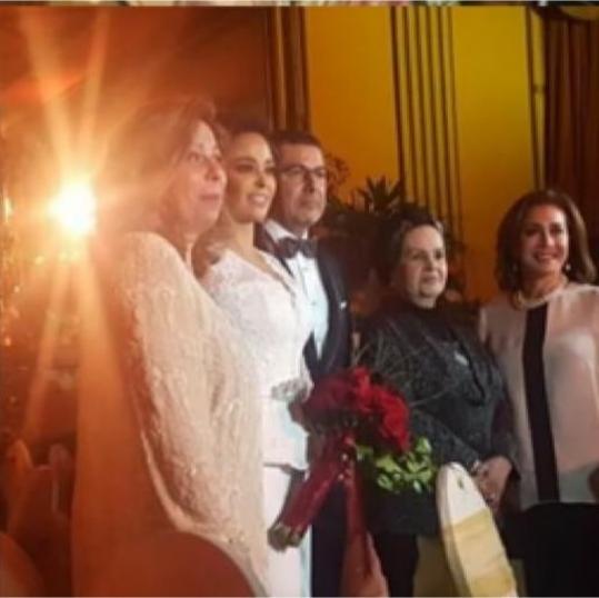 جانب من حفل زفاف داليا البحيرى