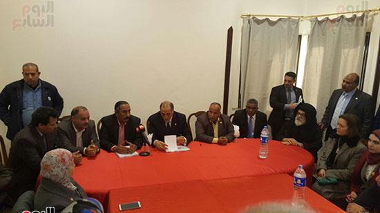 وفد لجنة التضامن الاجتماعى خلال لقاء قيادات البحر الأحمر