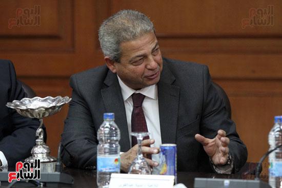 وزير الرياضة يكرم ابطال الاسكواش (14)