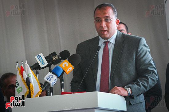 أبو هشيمة و3 وزراء ومحافظ أسوان يفتتحون إعادة إعمار قرية توشكى (36)