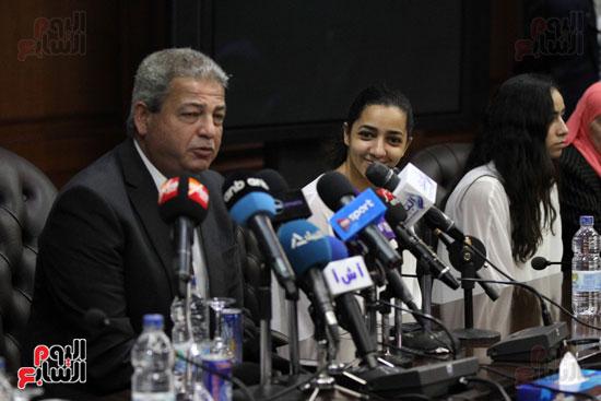 وزير الرياضة يكرم ابطال الاسكواش (11)