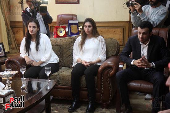 وزير الرياضة يكرم ابطال الاسكواش (5)