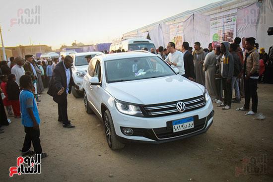 أبو هشيمة و3 وزراء ومحافظ أسوان يفتتحون إعادة إعمار قرية توشكى (49)