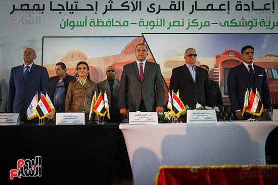 أبو هشيمة و3 وزراء ومحافظ أسوان يفتتحون إعادة إعمار قرية توشكى (22)
