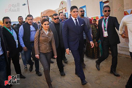 أبو هشيمة و3 وزراء ومحافظ أسوان يفتتحون إعادة إعمار قرية توشكى (20)