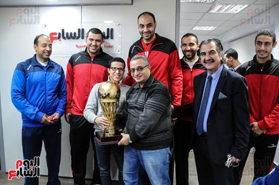 فريق الأهلى لكرة السلة المتوج بدوري الأبطال الأفريقي