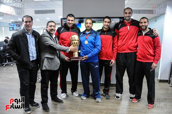 فريق سلة الأهلي أبطال أفريقيا فى ضيافة اليوم السابع (5)