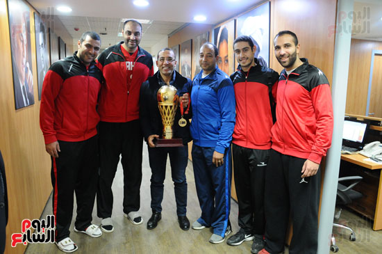 فريق سلة الأهلي أبطال أفريقيا فى ضيافة اليوم السابع (4)