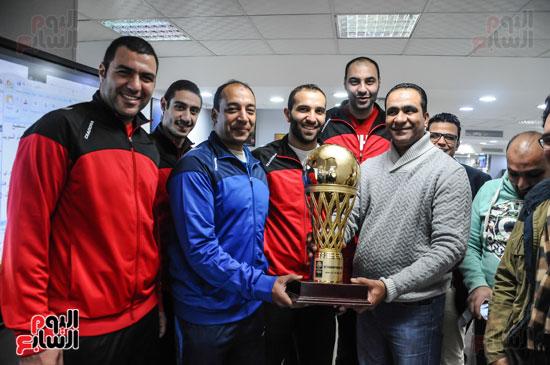 فريق سلة الأهلي أبطال أفريقيا فى ضيافة اليوم السابع (3)