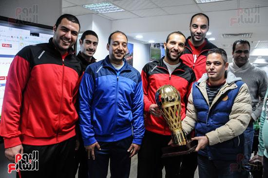 فريق سلة الأهلي أبطال أفريقيا فى ضيافة اليوم السابع (2)