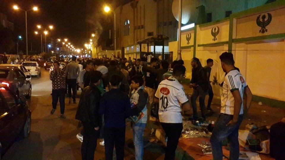 اجواء مباراة المصري والاهلي من امام استاد بورسعيد4