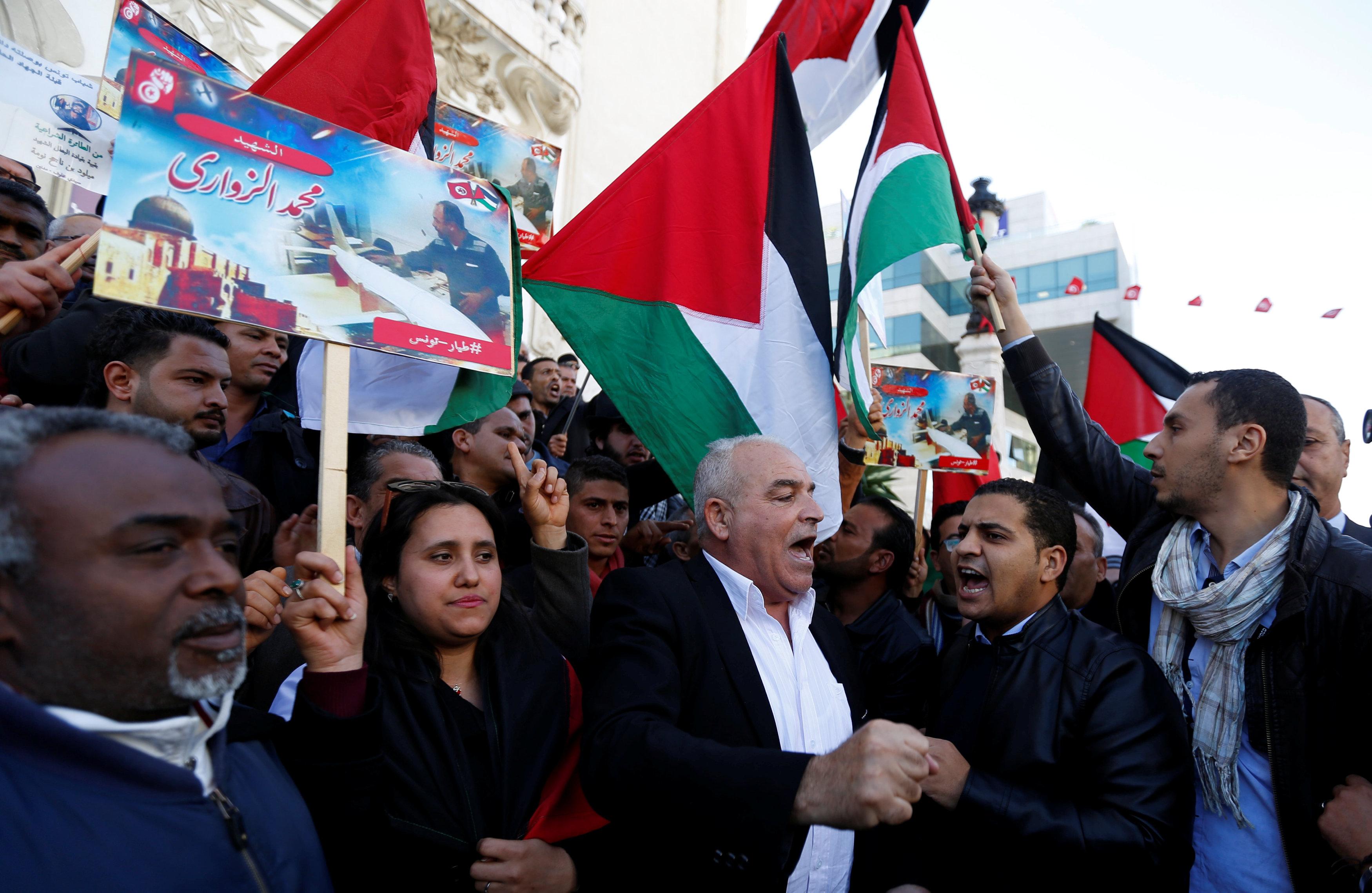 وقفة احتجاجية  فى تونس