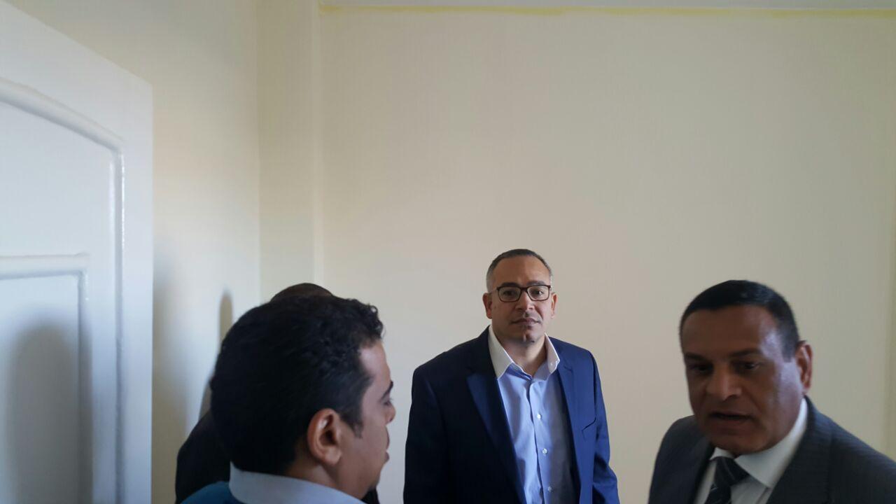 المهندس أحمد درويش يتفقد وحدات اطوير العشوائيات