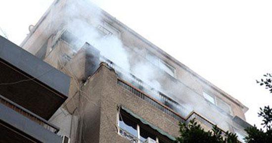 حريق-فى-شقة