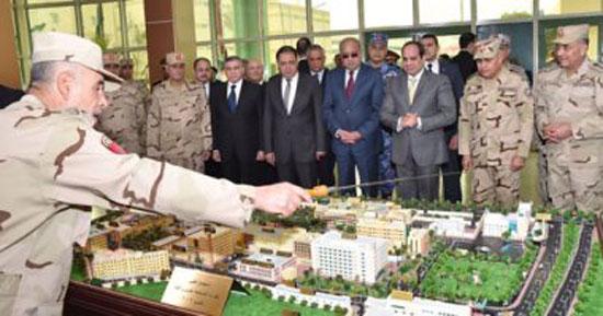 السيسى-خلال-افتتاح-تطوير-مستشفى-القبة-العسكرى