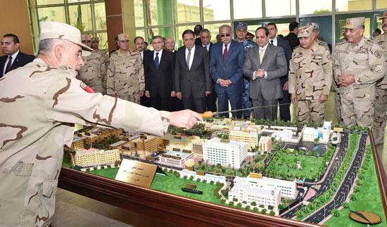 الرئيس يشهد افتتاح تطويرات كوبرى القبة العسكرى