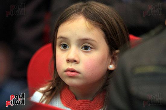 أحد الأطفال داخل المؤتمر