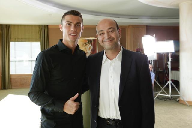 نتيجة بحث الصور عن عمرو أديب حواراً مع البرتغالي كريستيانو رونالدو