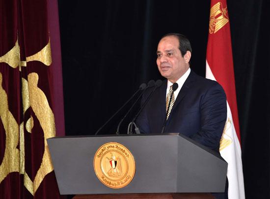 الرئيس السيسى خلال إلقاء كلمته