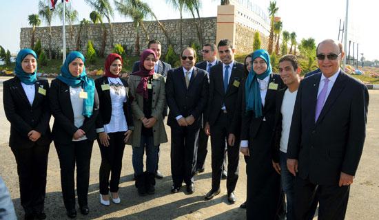 شباب بورسعيد مع الرئيس السيسى