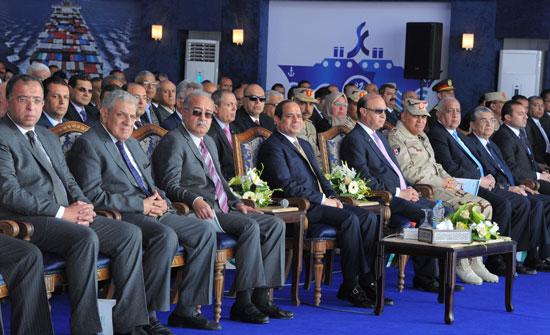 الرئيس السيسي يشارك فى احتفالات مدينة بورسعيد بعيدها القومي الستين