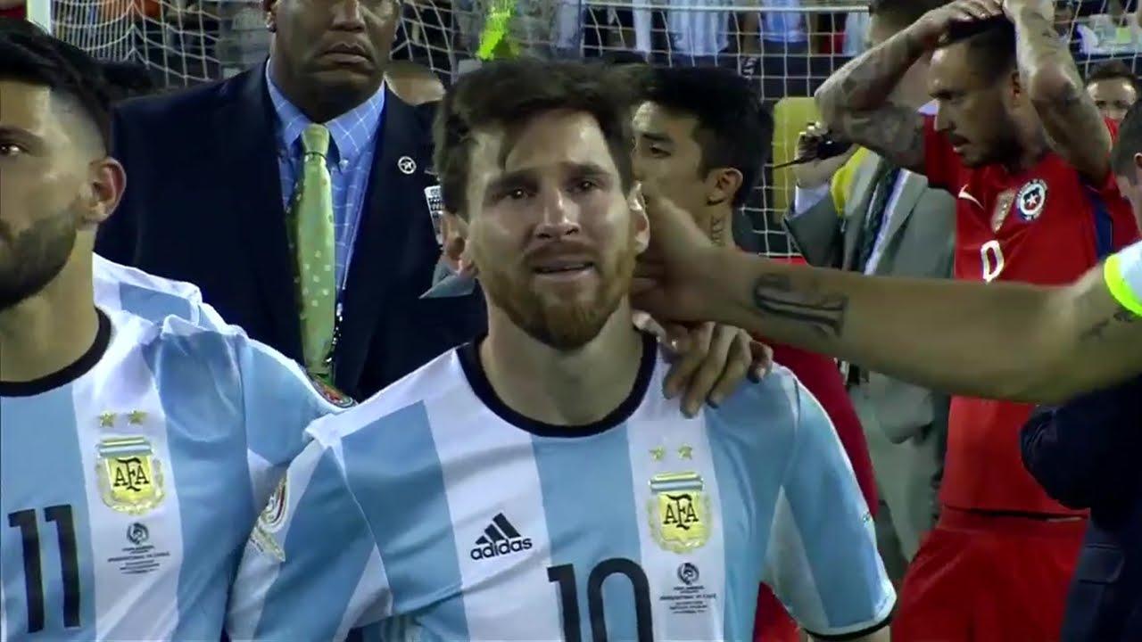 ميسي يبكي بعد خسارة نهائى كوبا امريكا