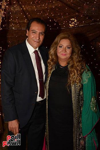 الفنانه تغريد فهمى وزوجها رجل الأعمال وسام الدغيدى