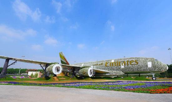 أكبر مجسم طائرة حقيقى لطيران الإمارات