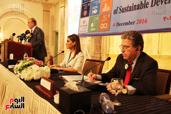 وزيرة التعاون الدولي الدكتورة سجر نصر وكارين دادوريان نائب المدير الاقليمي لصندوق الاممم المتحدة للسكان
