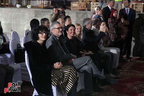 موتمر صحفى لوزير الاثار فى المتحف الكبير (1)