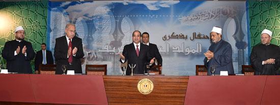 كلمة الرئيس خلال الاحتفال بذكرى المولد النبوى الشريف (3)