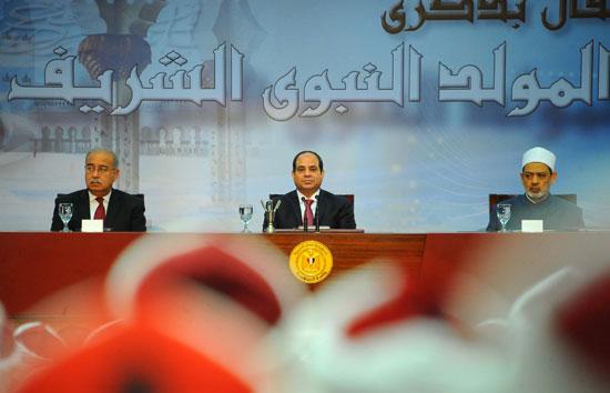 كلمة الرئيس خلال الاحتفال بذكرى المولد النبوى الشريف (9)
