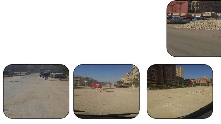 الشوارع خالية من مياه الصرف الصحى