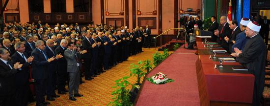 كلمة الرئيس خلال الاحتفال بذكرى المولد النبوى الشريف (1)