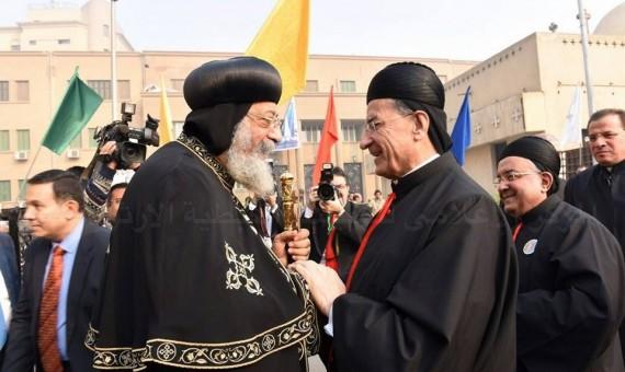 البابا تواضروس ومار بشارة الراعى