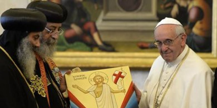 البابا تواضروس وبابا الفاتيكان