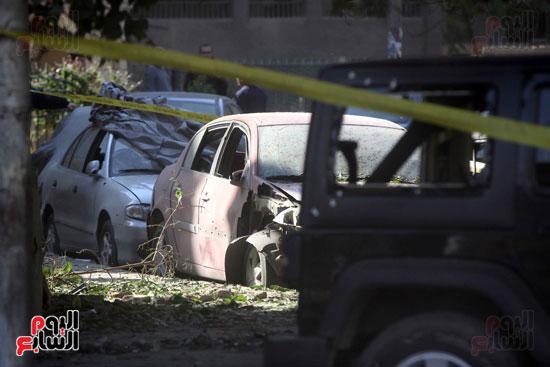 انفجار كمين شارع الهرم (33)