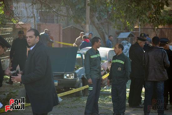 انفجار شارع الهرم (1)